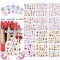 HOTSALE 50 лист/МНОГО Барби & teddy Bear дизайн цвета серии ногтей наклейки для ногтей инструменты + Отдельно Упакованы