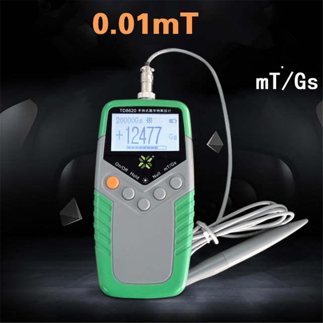 6dfa1325c0a placeholder TD8620 Permanente Ímã Tesla Gauss Medidor Handheld Digital  Medidor de Teste de Medidor de Fluxo Magnético