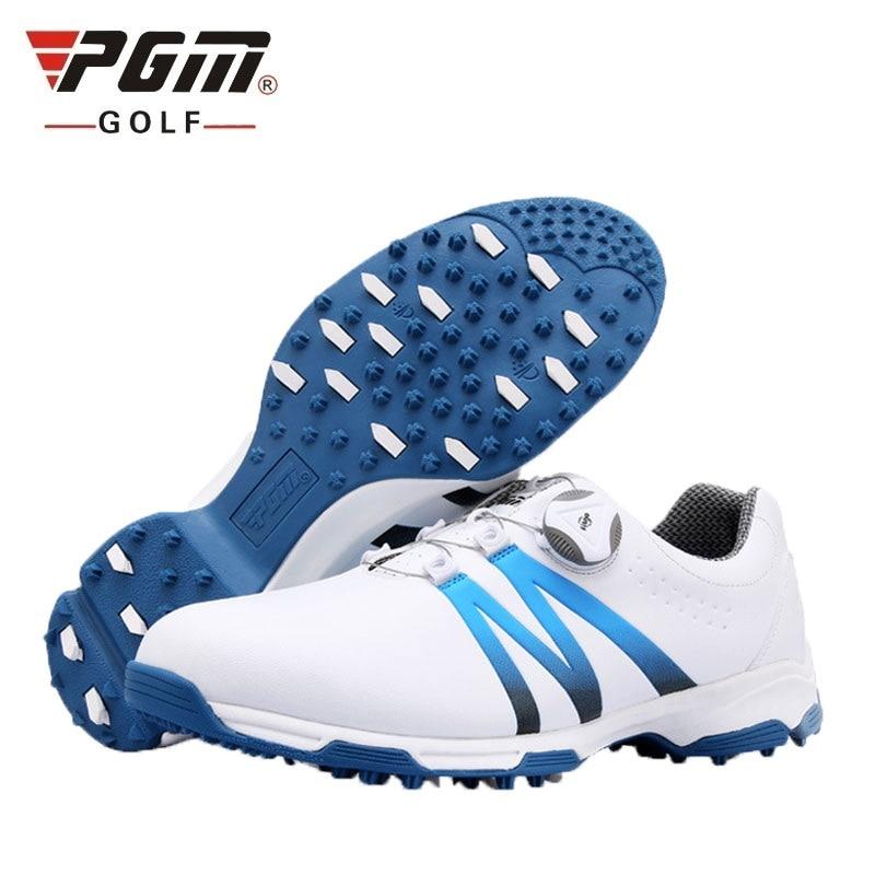 Bola de Golfe Sapatos à Prova Tênis de Golfe Homem Autêntico Dnon Água Antiderrapante Spikes Unhas Anti-skid Traning Sapatos Atléticos D0469 Pgm