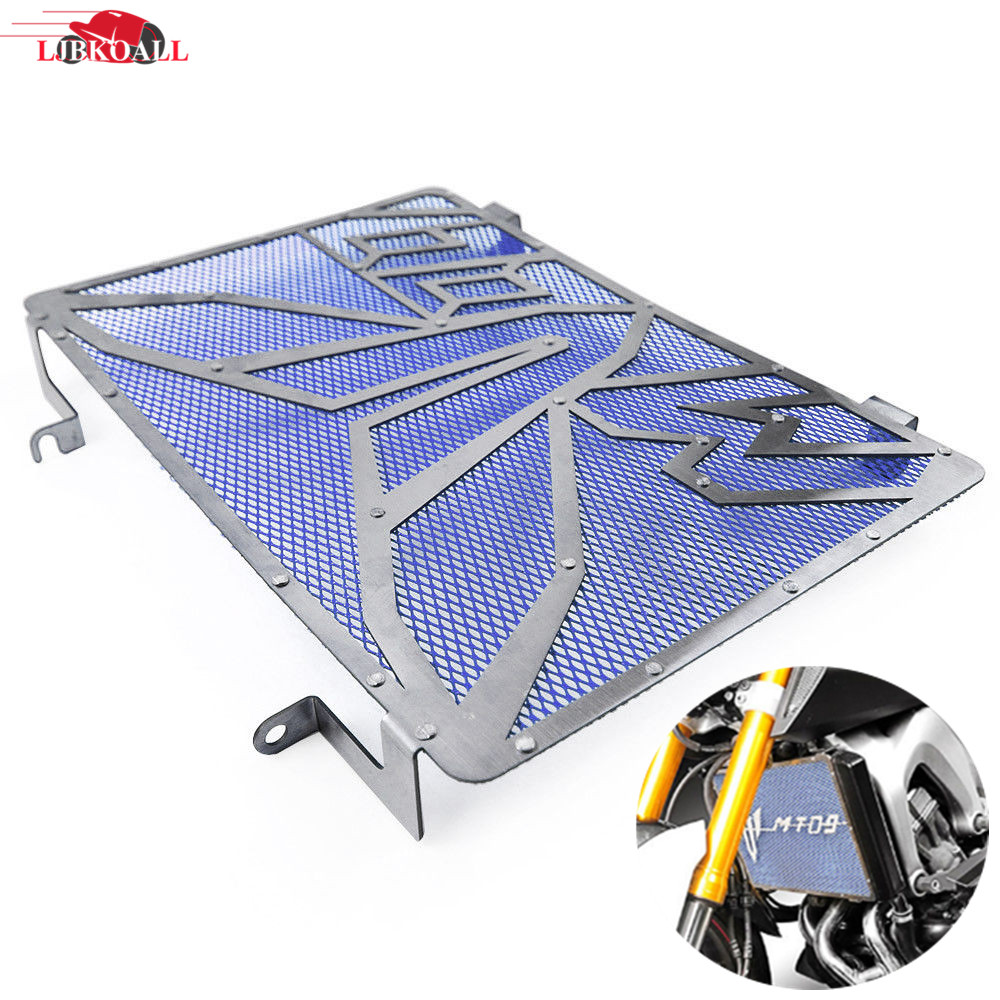 Stainless Steel Motorcycle Radiator Guard Grille Protector Cover For Yamaha MT-09 MT09 FZ09 FZ-09 MT FZ 09 2015 2016 2017 2018 arashi 1 pair air intake inlet guard cover protector for yamaha mt 09 mt09 fz 09 2014 2015 2016 5 colors