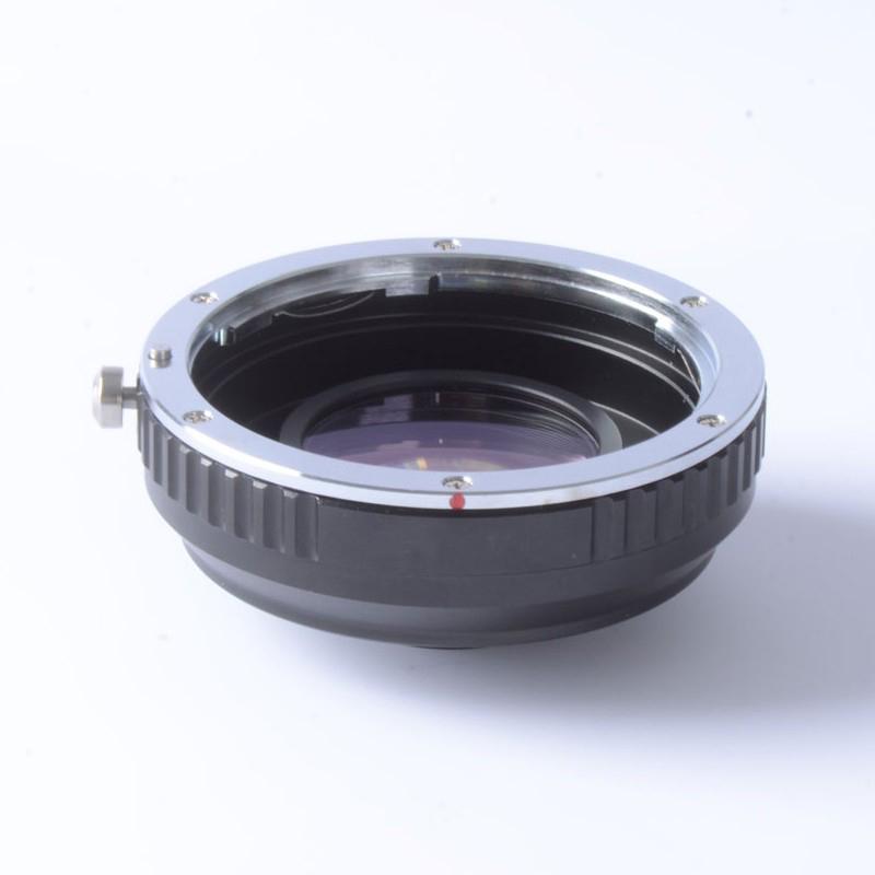 Prix pour Focal Réducteur Vitesse Booster Turbo Adaptateur pour Canon EF Objectif à M4/3 mont caméra GF5 GF6 GX7 EM5 E-PL6 E-PL5 E-PM2 OM-D