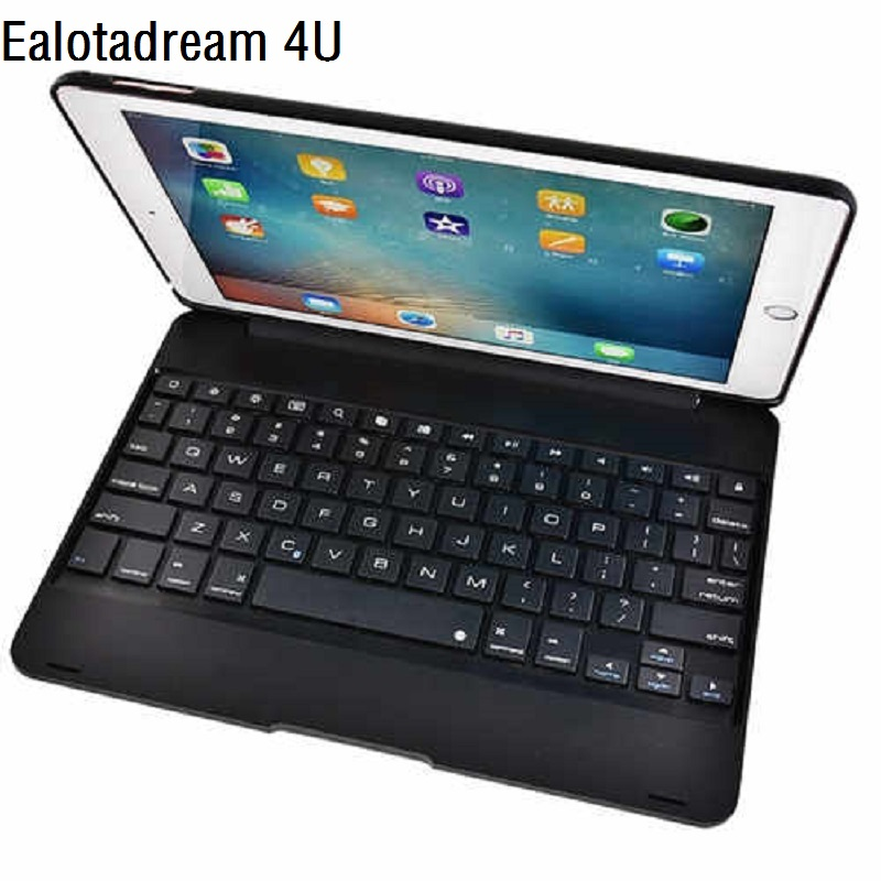 New ABS Bluetooth Case for iPad Pro 9.7 2017 Case Keyboard Flip Protective Cover For iPad Pro 9.7 Keyboard Kickstand Cover protective silicone keyboard cover for apple macbook pro air purple