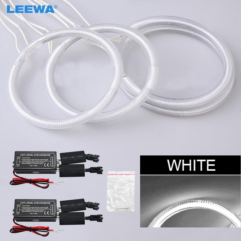 LEEWA 2X90MM 2X101 5MM Car Headlight CCFL Angel Eyes Halo Rings For Chery  A5/Alia/Elara/Fora/J5/Speranza/A516/MVM/520/530 #3294