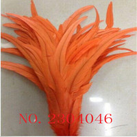 Wholesale 200PCS natural feather dyed orange 30 35CM (12 14 inches) cock feather DIY decorative feather accessories