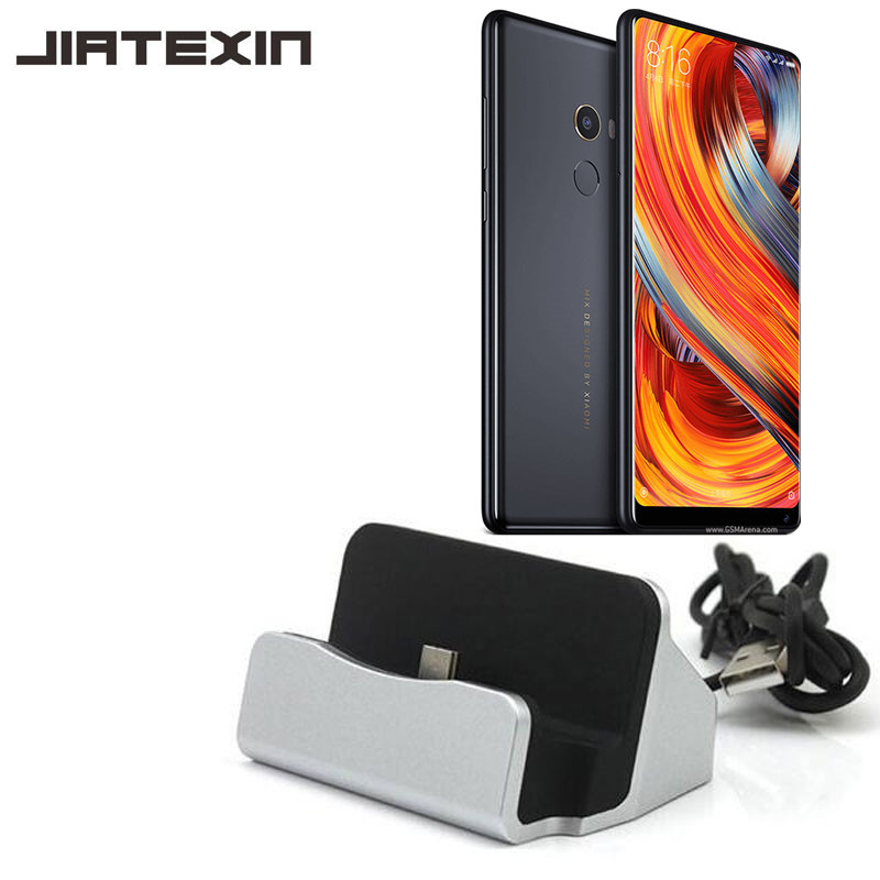 JIATEXIN Desktop Data Sync Type-C USB Cable Dock Charger Station For Xiaomi Mi Mix/Mix 2 2S/Mix Evo/Mi Note 2 3 Charging Dock