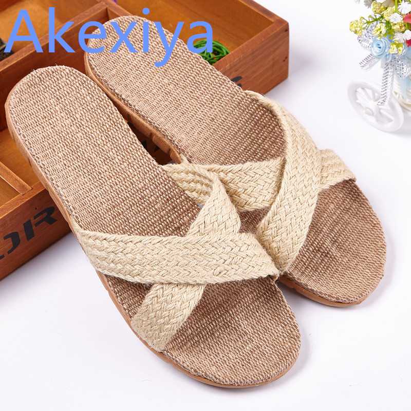 Akexiya 2017 Autumn Winter Men Women Cross-tied Home Slippers Candy Color Pantufa Beach Sandals Indoor Zapatos Hombre Mujers mulinsen latest lifestyle 2017 autumn winter men