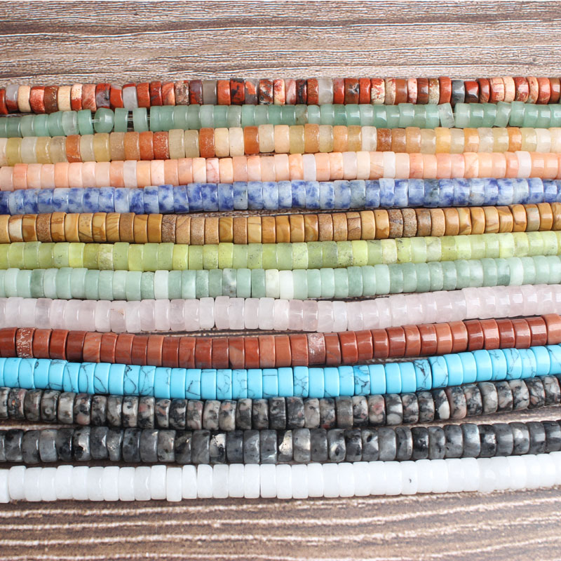 Lan Li fashion Jewelry 3x6mm multicolor natural stones Spacer beads DIY woman bracelet necklace ear stud and accessories