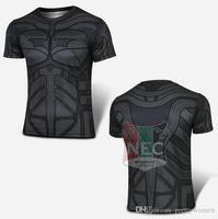 Erkek Spor T gömlek yeterli kalite Kollu bisikleti forması Süper hero örümcek adam superman bisiklet ciclo jersey yarasa adam tee gömlek