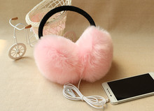 New Arrival Plush headphones winter Headset ear warmer earmuffs music Cartoon earmuffs Headphone for Girls