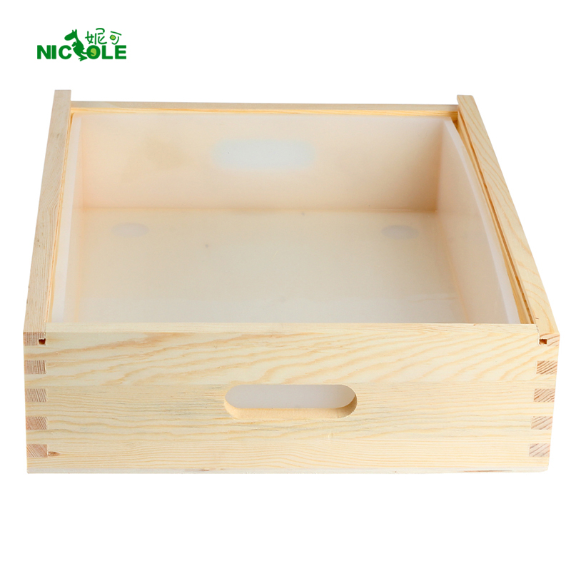 DIY हस्तनिर्मित भंवर साबुन बनाने के उपकरण के लिए लकड़ी के बक्से के साथ बड़ा आकार आयत सिलिकॉन साबुन मोल्ड