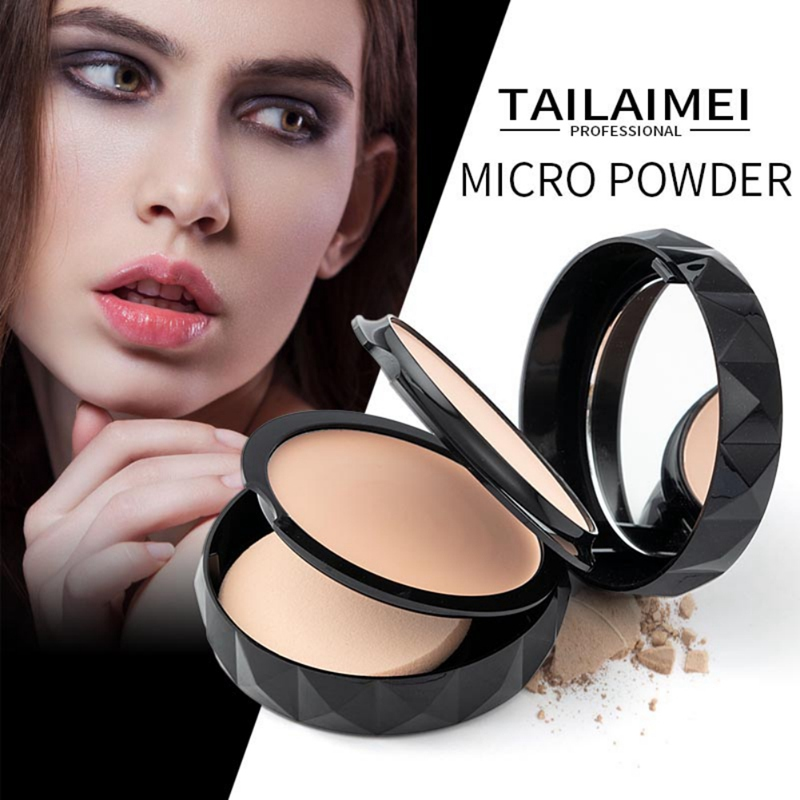 Feather Appearance 3 Color Pressed Powder Oil Control Moisturizing Lasting Concealer Whiteing Waterproof Not Remove Makeup
