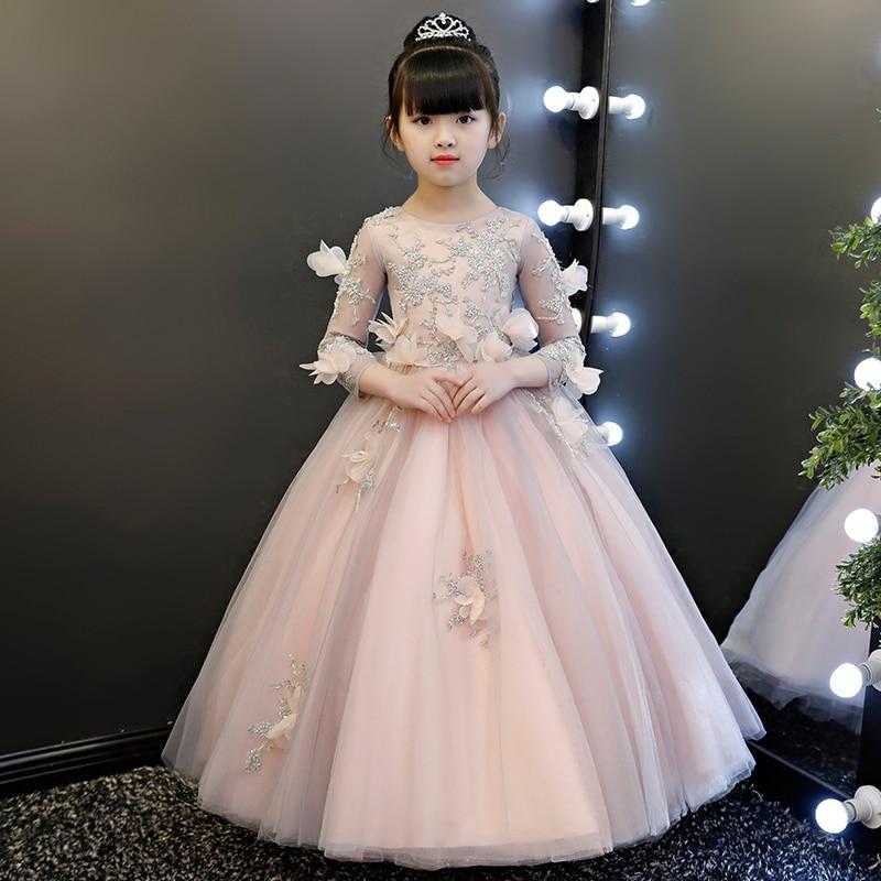 2018 Spring New Children Kids Luxury Elegant Birthday