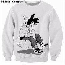 Plstar Космос Dragon Ball Z Супер Saiyan Кофты мужские и женские Верхняя одежда с длинными рукавами аниме Гоку Объёмный рисунок (3D-принт) Crewneck пуловеры