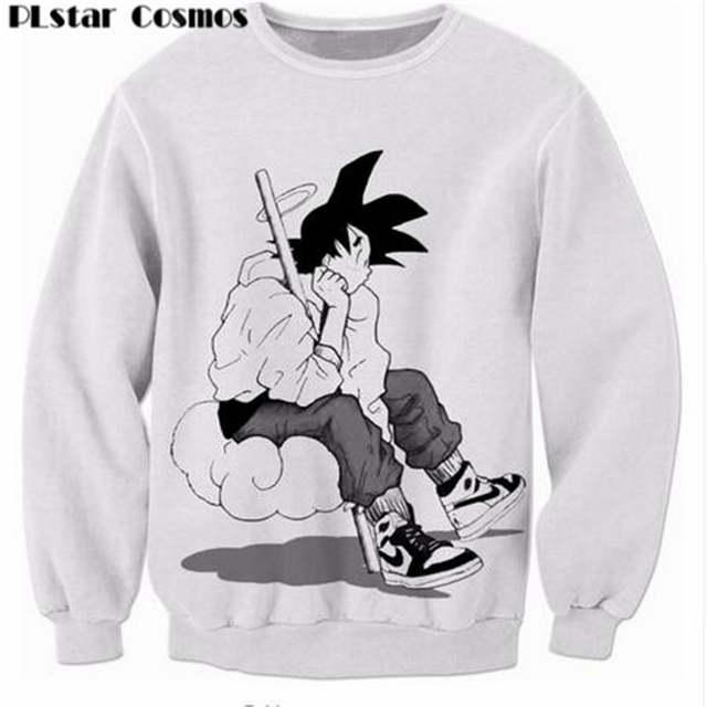 e6a1875c93e0 PLstar Cosmos Dragon Ball Z Super Saiyan Sweatshirts Men Women Long Sleeve  Outerwear Anime Goku 3D