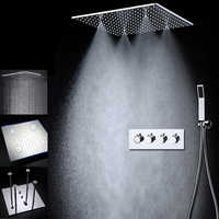 2019 Modern 20 inch Shower System Big Rainfall Overhead Mist Showerhead Thermostatic Shower Faucet / Ceiling Mounted
