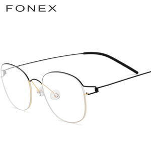 التيتانيوم سبائك نظارات إطار الرجال النظارات الطبية الكورية المرأة العلامة التجارية الجديدة مصمم قصر النظر إطارات البصرية Screwless نظارات