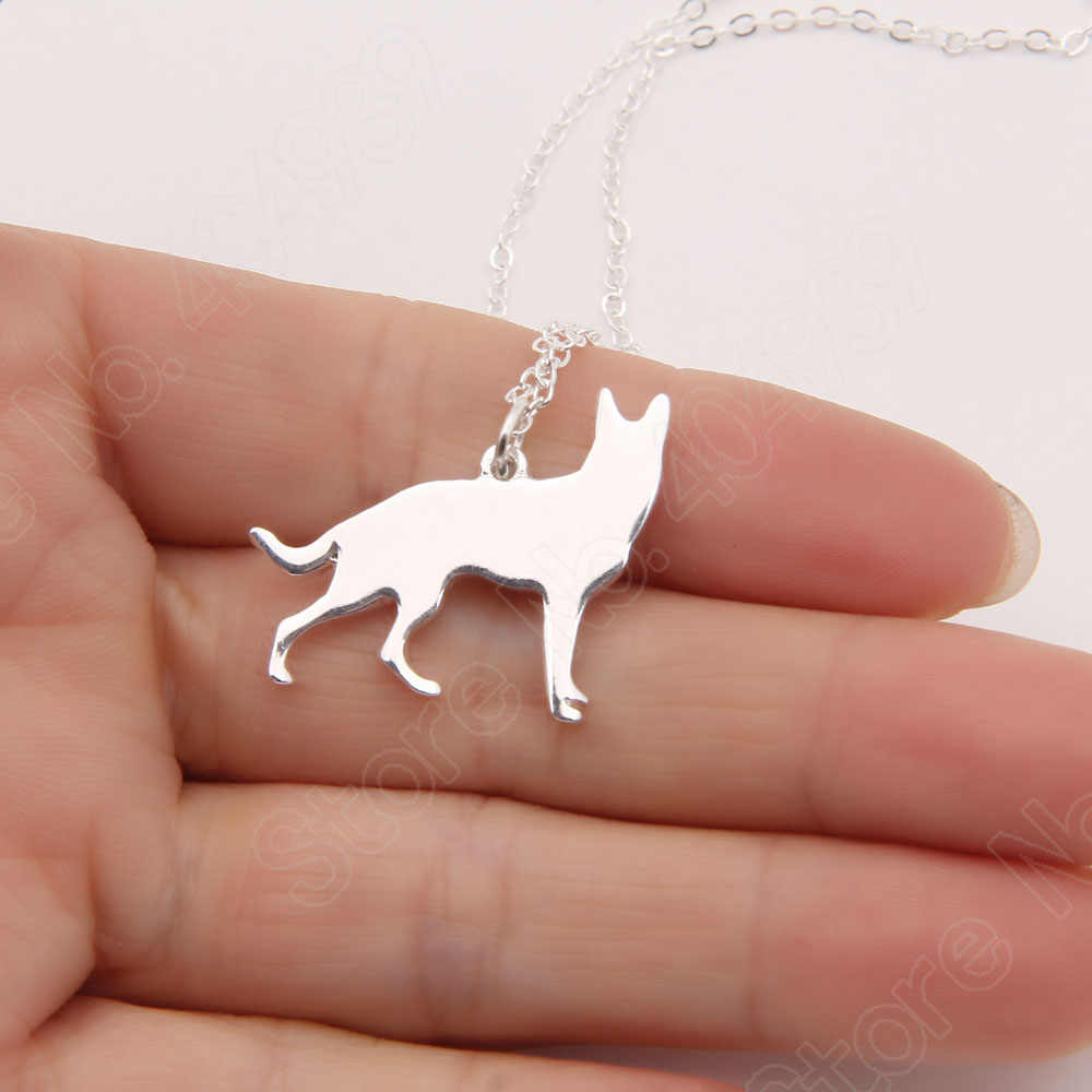 German Shepherd Side Necklace Dog Pet Memorial Gift Dog Christmas Gift Necklaces & Pendants Women Animal Pendant Charms
