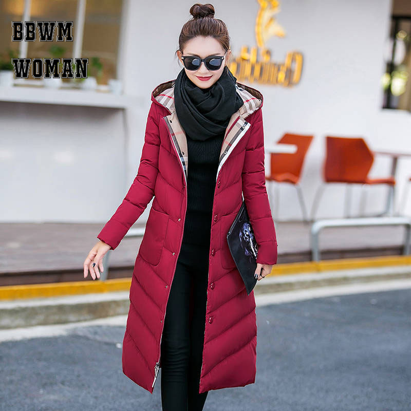 Autumn and Winter Cotton Padded New Korean Plus Size Thickening Slim Hooded   Parkas   Jacket Coat ZO1775