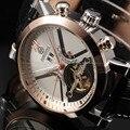 Calendario fecha Día pantalla oro caso hombre reloj deportivo mecánico etiqueta hora relojes hombres marca de lujo automático Tourbillon reloj