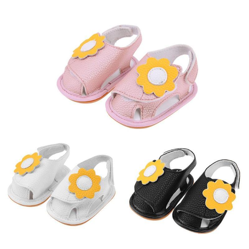 Newborn Baby Toddler Shoes Spring Summer PU Non-slip Flower Prewalker Shoes First Walkers for Baby Children Girls 6-18M