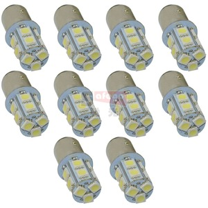 Image 1 - Safego 10pcs P21W 1156 1157 LED Turn Signal Bulb 5050 13 SMD S25 BAY15D BA15S Car Brake Tail Lights Parking Light 12V White