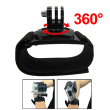 For Gopro Accessories 360 Degree Rotation Hand Wrist Strap Band Mount Arm Belt for Gopro Hero three three+ four Xiaomi Yi SJ4000/5000/6000