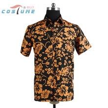 Страх и Ненависть в Лас-Вегасе Рауля Дюка Оранжевая Рубашка Для Мужчин Хэллоуин Косплей Костюм Плюс Размер