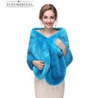 Blue Women Bolero Winter 2019 Cheap Wedding Wrap Elegant Bridal Coat High Quality Lady Wraps