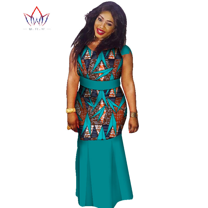 c07aff6bd7 US $49.74 11% OFF|Plus Size o neck dresses women 2018 traditional african  fashion Clothing Africa Wax Dashiki long cotton maxi dress 7xl WY1354-in ...