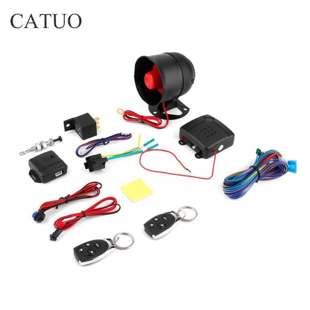 Universal 1-Way Car Alarm Vehicle System Protective