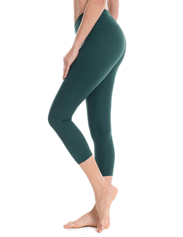 Femmes de Collants Running Flex Workout Capri Leggings De Yoga Pantalon avec Poches