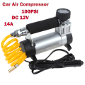 YD-3035 Portable Super Flow 12V 14A 100PSI Auto Tire Tyre Inflator / Car Air Pump Car Pumps Car Auto Air Compressor 12V