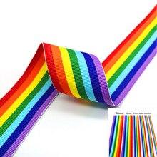 Fita arco-íris para decoração de casamento, 5 jardas belas fita de arco-íris para embrulhar presente diy fita do natal