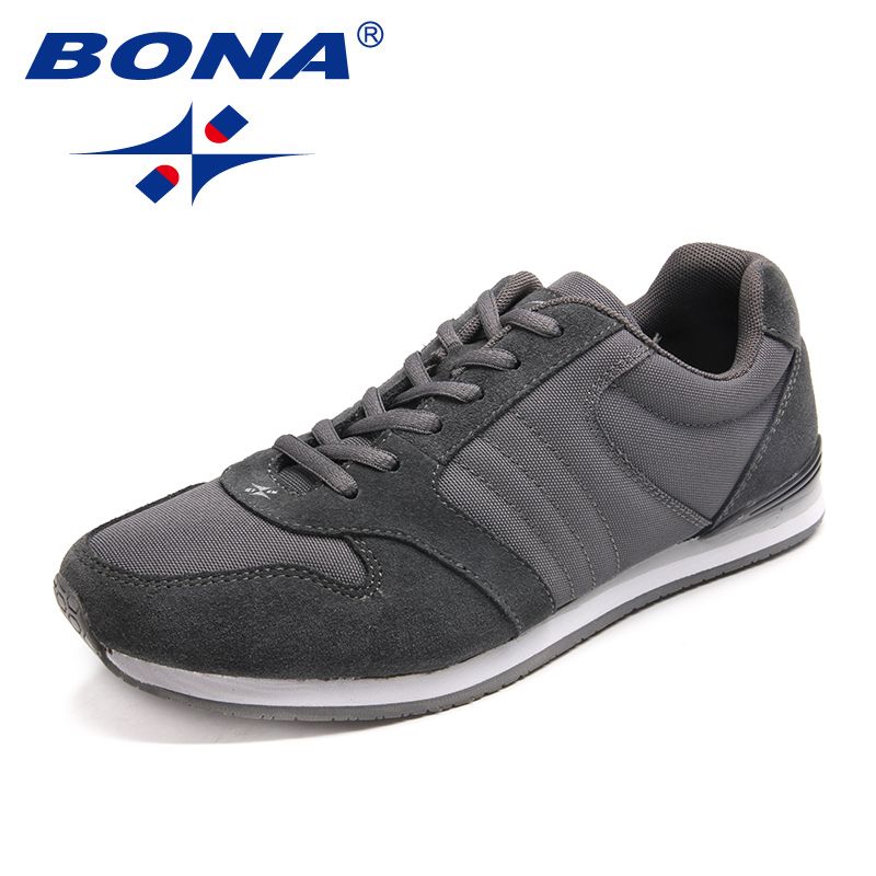 BONA New Classics Style Men Running Shoes Suede Mesh Men Takkies Lace Up Men Sport Shoes