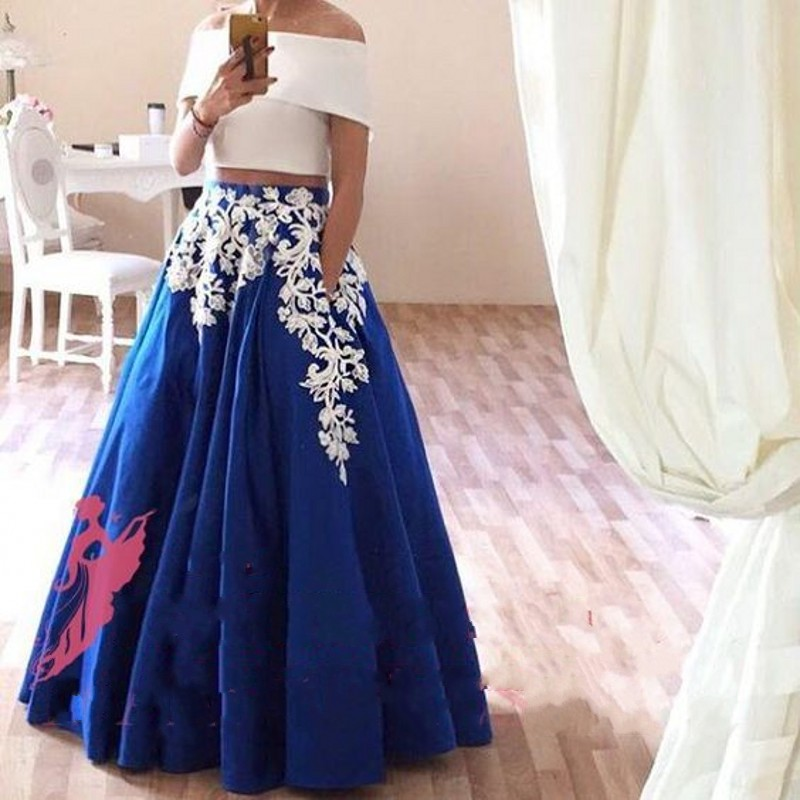 Lovely New Arrival Applique Skirts Women A Line Floor Length Long Maxi  WC46