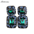 Miwens New 2017 hot sale earrings trendy fashion vintage design colorful crystal stud earrings for women za Jewelry 5004