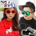 Retro resin sunglasses Children boys girls sun glasses Kids all match sunglass Cool handsome goggles boys girls gafas KS0058