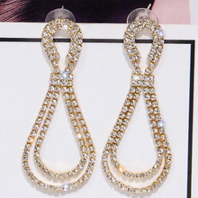 Trendy Crystal Water Drop Earrings for Women Long Nigerian Rhinestone Statement Jewelry Wholesale 5.0
