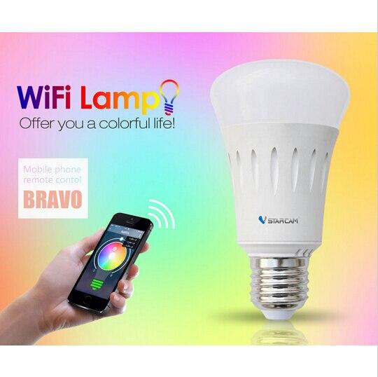 VStarcam WF820 Smart WiFi Lamp Mini Light Smart Phone Control WIFI connect Lamp Bulb E27 RGB Color Light Support iPhone&Android гаджет vstarcam wf820