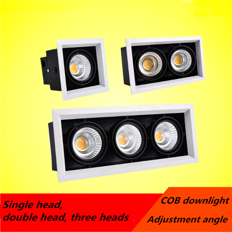 1pcs white High quality Surface Mounted adjustment LED COB dimmable Downlights ac85-265V 10W 20W 30W LED Ceiling Lamp Spot Light 10w 15w 20w 30w 50w cob led downlights surface mounted ceiling spot light 360 degree rotation ceiling downlight white ac85 265v