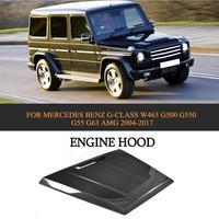 En Fiber De carbone Avant De la Voiture Capot Moteur Capot pour Mercedes Benz G-CLASS W463 G500 G550 G55 G63 AMG 2004-2017