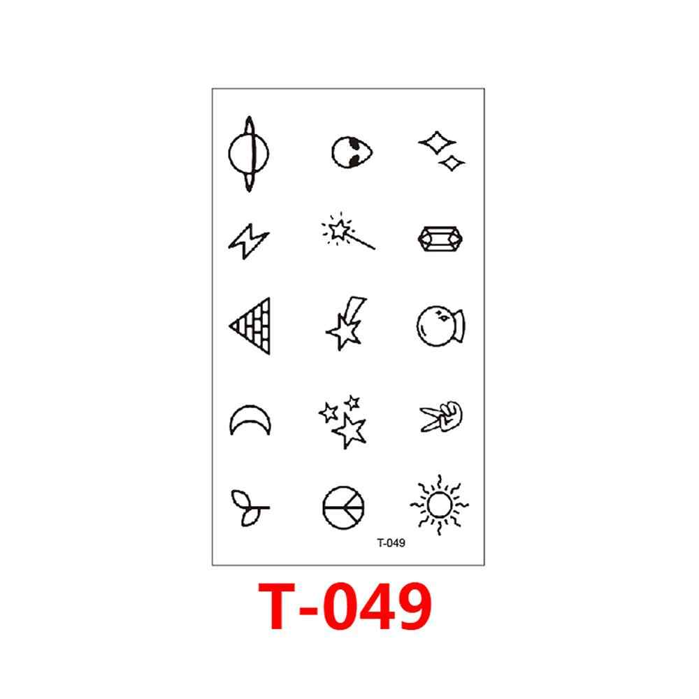 T-049 Vários patte pequeno padrão fresco linha padrão de arte do corpo etiqueta do tatuagem temporária feminino simples novo design falso tatuagem masculino