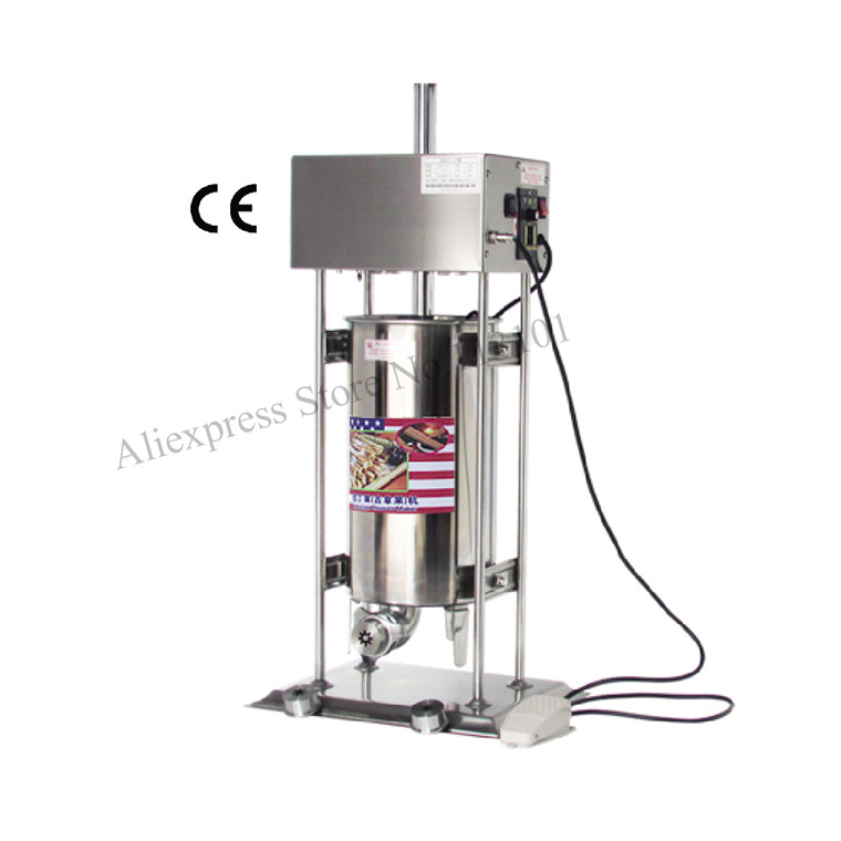 Automatic Churro machine Stainless Steel Electric Churro Maker Spanish Churros Making Machine Capacity 15 Liters churro display warmer deluxe stainless steel churro showcase machine with heat food warmer and oil filter tray