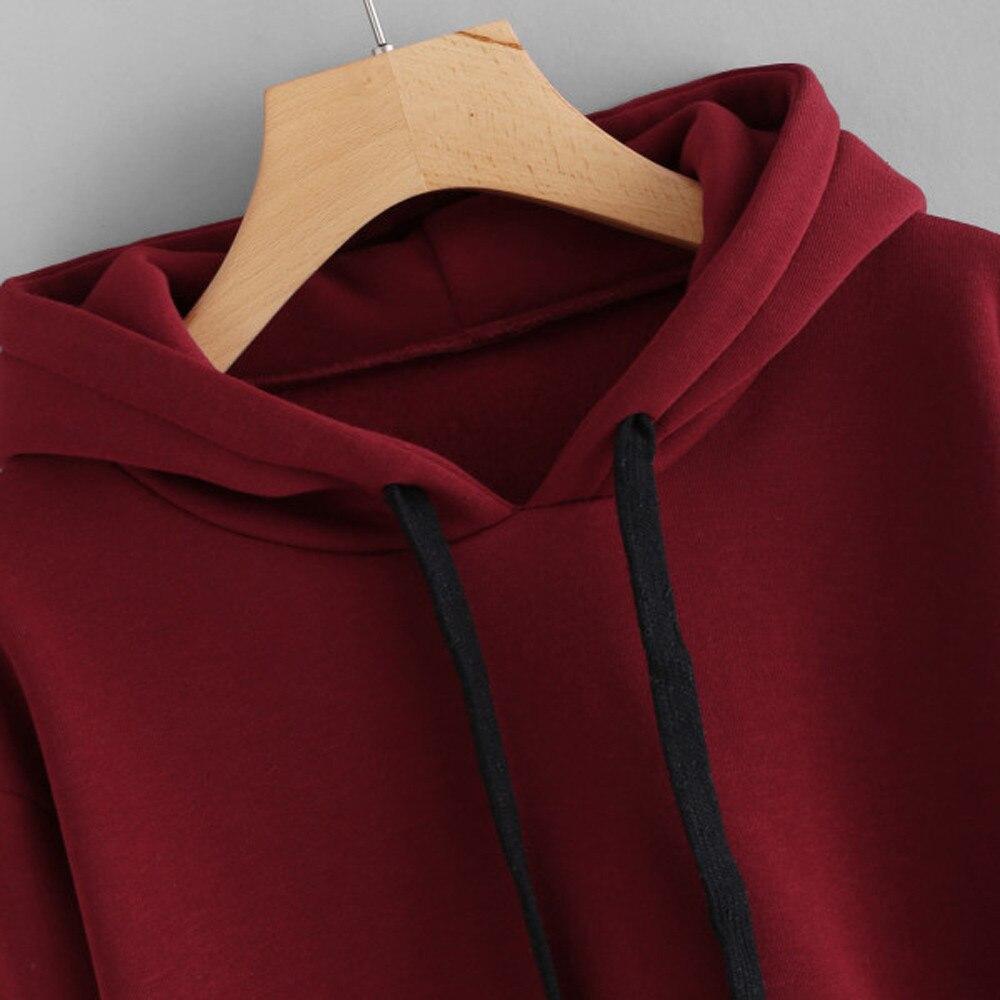 f96f742b3fd80 Crop Hoodies Womens Striped Long Sleeve Hoodie Sweatshirt Jumper ...