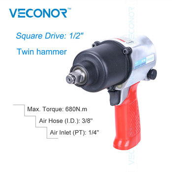 """1/2"""" Square Drive Pneumatic Impact Wrench Air Socket Wrench Set Power Socket Tools Set Twin Hammer"""