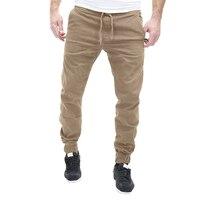 2017 Men Leisure Causal Chino Trousers Slim Fit Hip Hop Harem Pants For Men Joggers Cotton