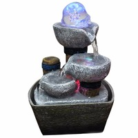Feng Shui Water Fountain Figurine Indoor Water Fountains Desktop Resin Fontaine Interieur Office Home Decoration Accessories
