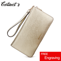 Genuine Leather Women Clutch Wallet High Capacity Female Phone Purse Handy Fashion Designer Ladies Multi Card