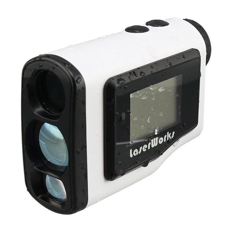 Laserworks LWG1000 1000m additional screen laser rangefinder 6X21 golf slope pinseeker function with jolt simulation mini golf course display toy set with golf club ball flag