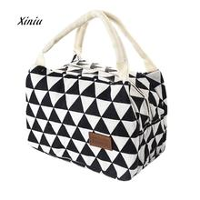 New Fashion Lunch Bag For Women Kids Men Insulated Canvas Box Tote